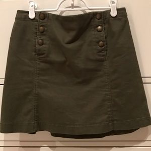 Abercrombie and Fitch Olive Button Skirt